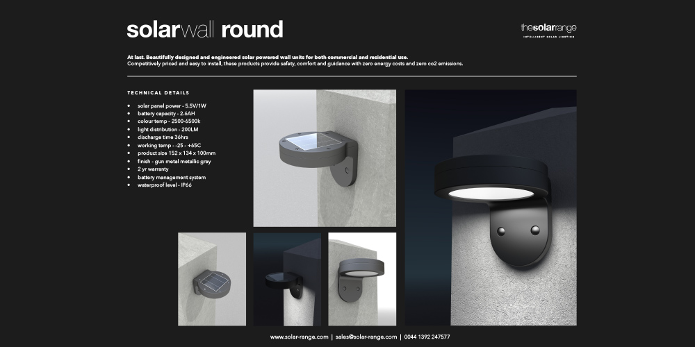 Solar wall round Brochure cover