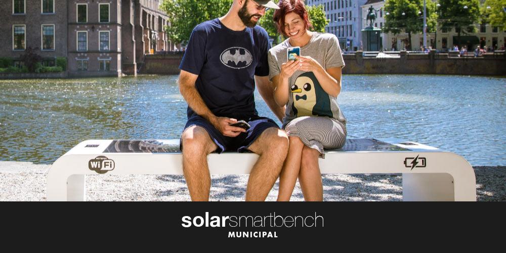 solar smart bench municipal